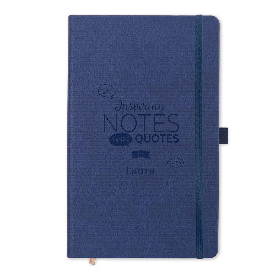 Notitieboekje gravure - Blauw
