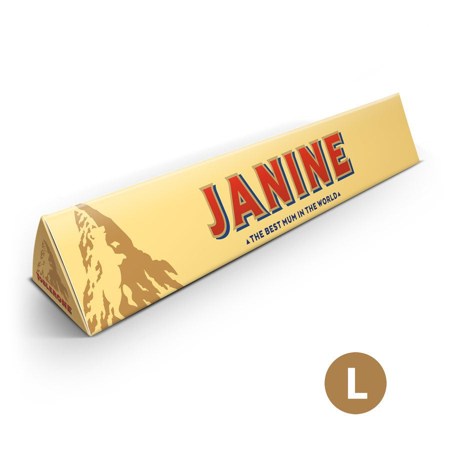 Toblerone Fête des Mères personnalisé L - 360 grammes