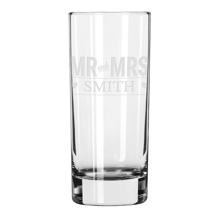Longdrinkglass med gravering