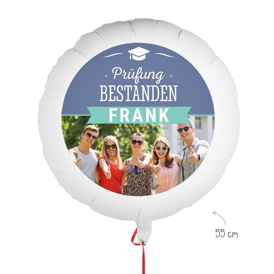 Ballons bedrucken - Prüfung bestanden