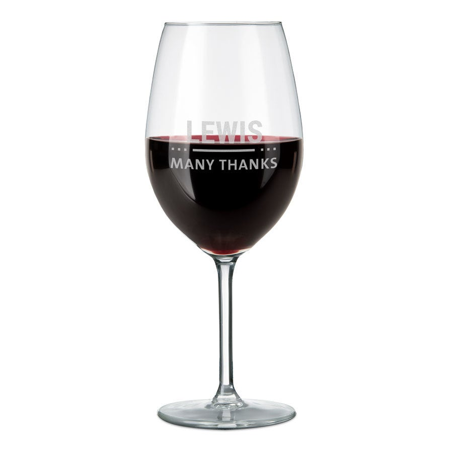 Copa de vino grabada