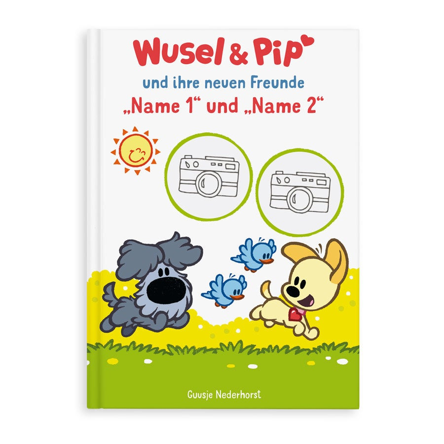 Kinderbuch - Wusel & Pip - Geschwister/Zwillinge XL- Hardcover