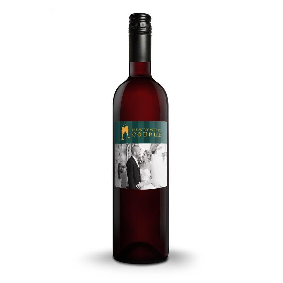 Wijn met bedrukt etiket - Luc Pirlet - Merlot