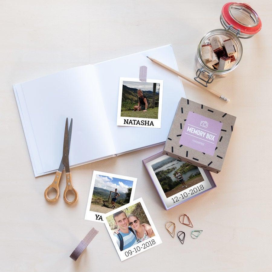 Polaroid-kuvat lahjapakkaus