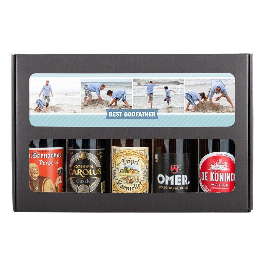 Godfather öl gåva set - belgiska