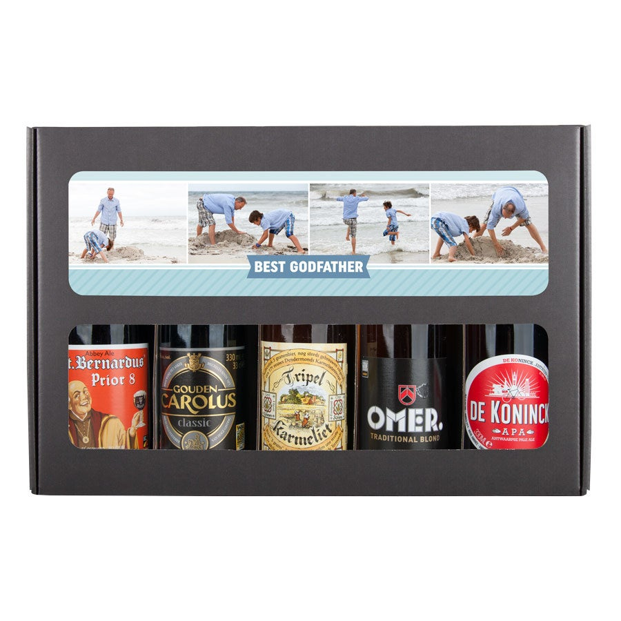 Kmotr pivo dárková sada - belgický