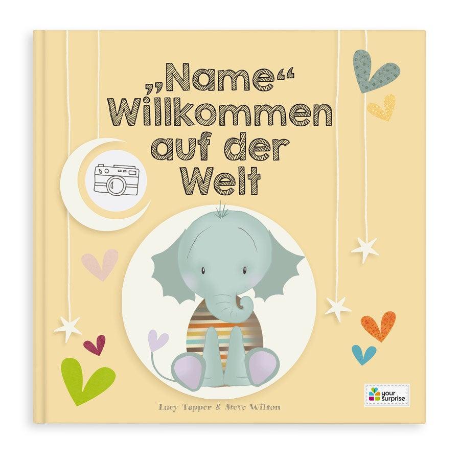 Babybuch mit Namen - Willkommen auf der Welt - Softcover