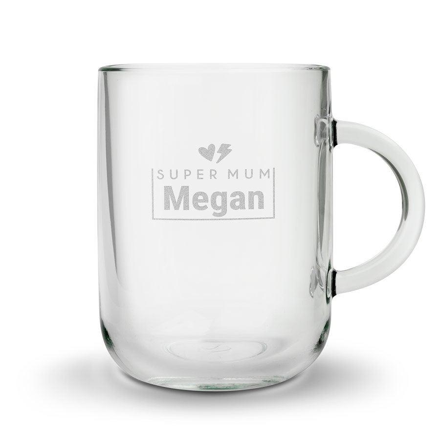 Okrągła szklanka dla Mamy