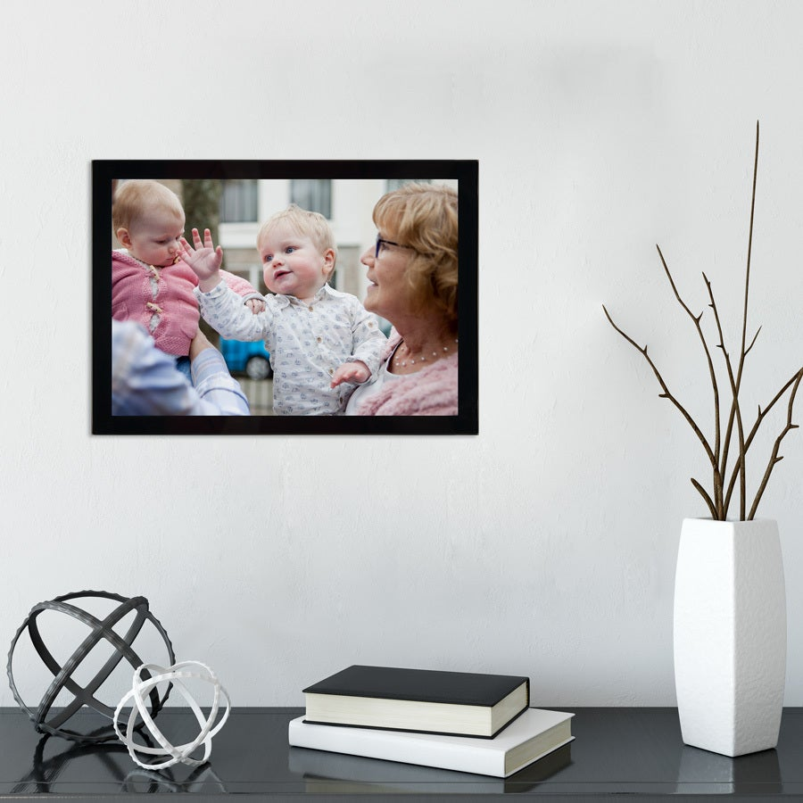 Cadre photo en verre - Noir - 30x21 cm