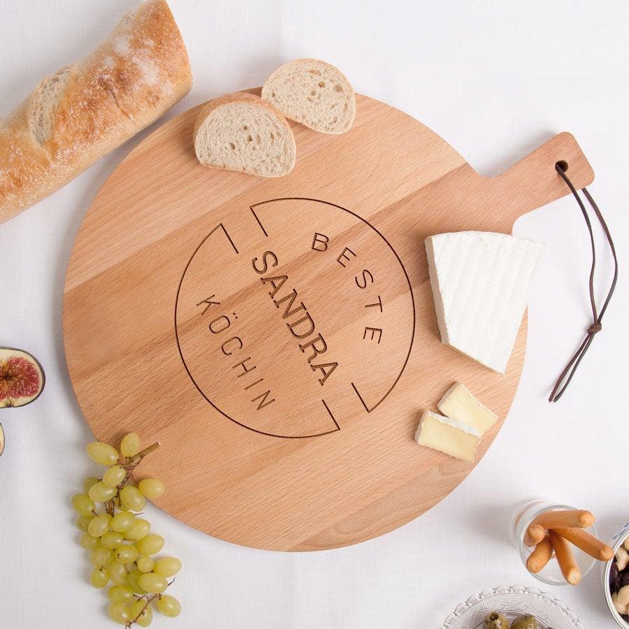 Individuellküchenzubehör - Servierbrett Buche Rund (M) - Onlineshop YourSurprise
