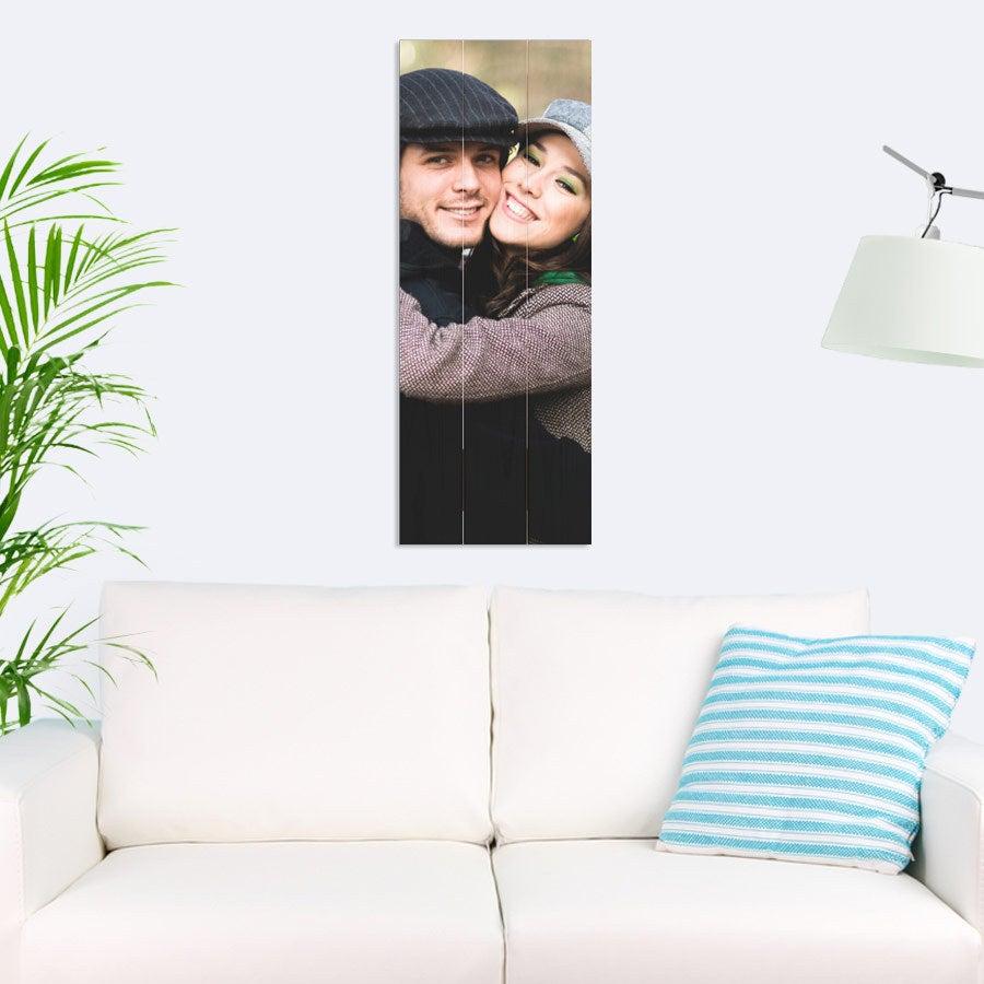 Foto op houten planken - 30 x 80 cm