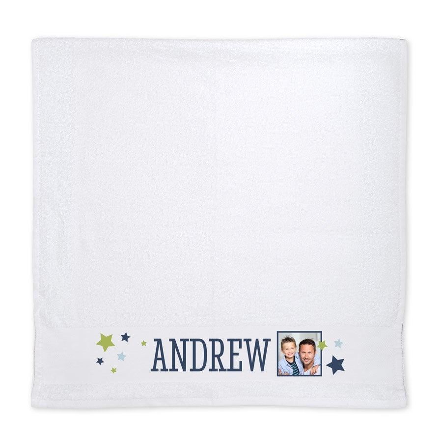 Foto håndklæde - Hvid