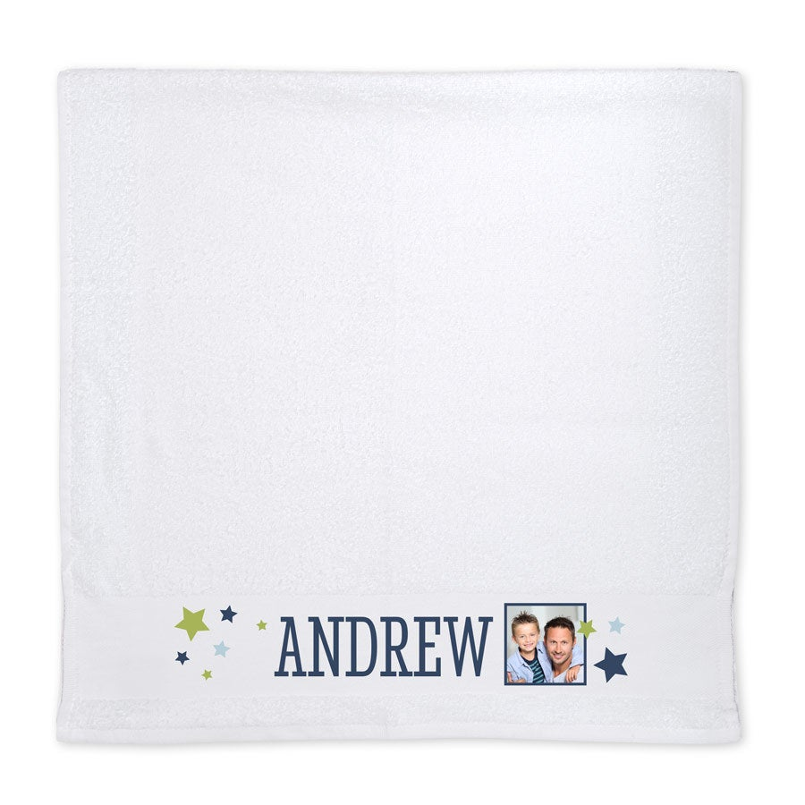 Photo towel - White
