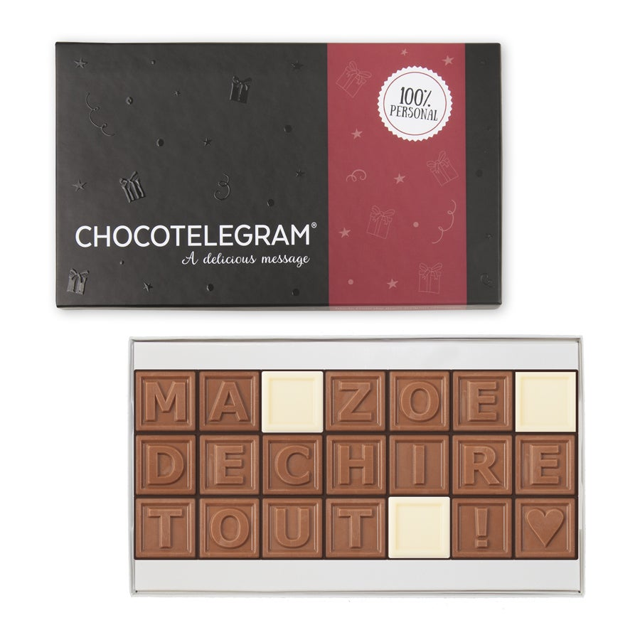 Chocotelegram - Coffret cadeau 3 x 7