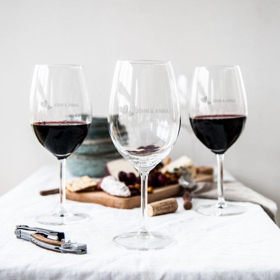 Rood wijnglas - set van 2