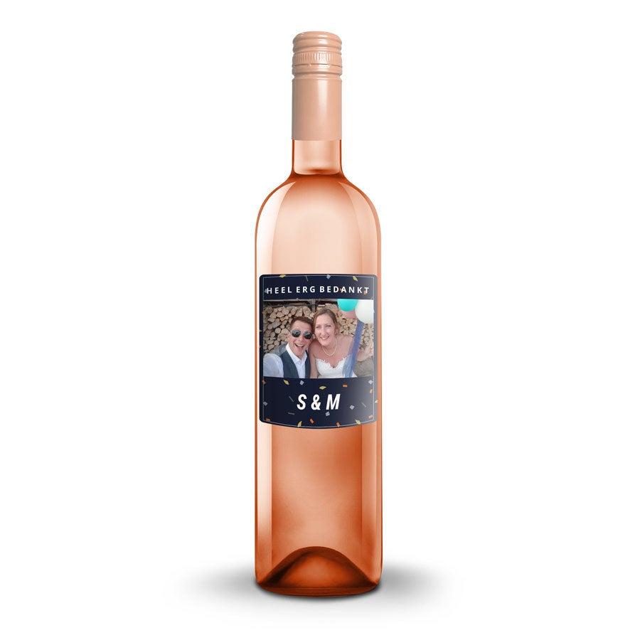 Wijn met bedrukt etiket - Oude Kaap - Rosé