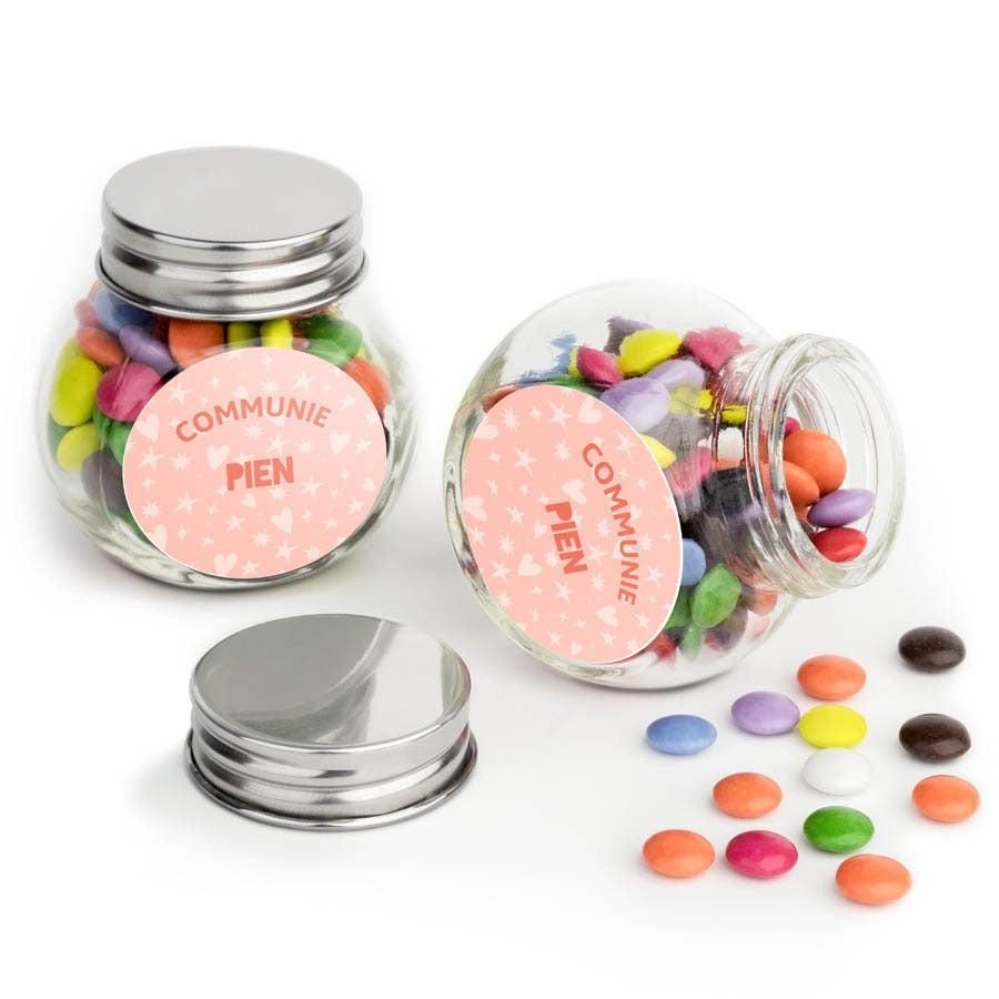 Chocosnoepjes in glazen potje - 20 stuks