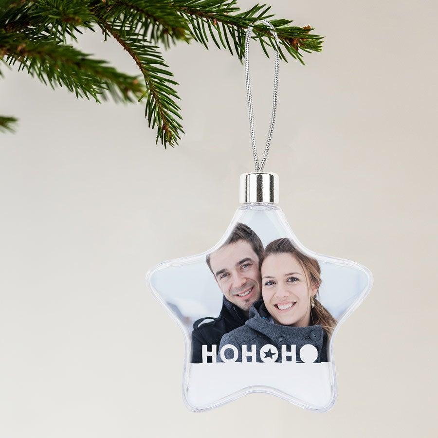 Décoration de Noël - Étoile transparente x2