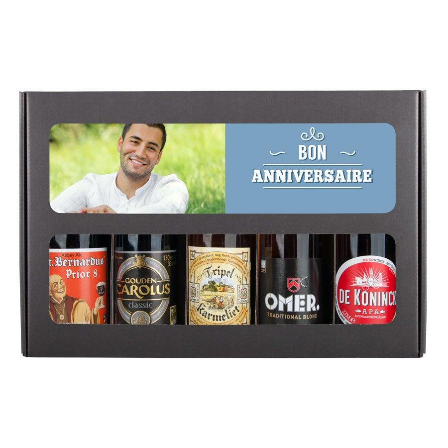 Coffret 5 bières belges - Thème Anniversaire