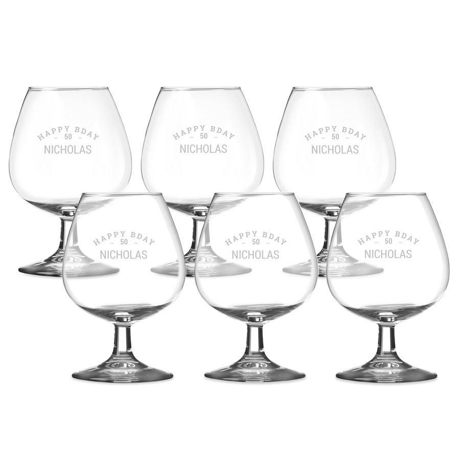 Cognacglas graveren (6 stuks)