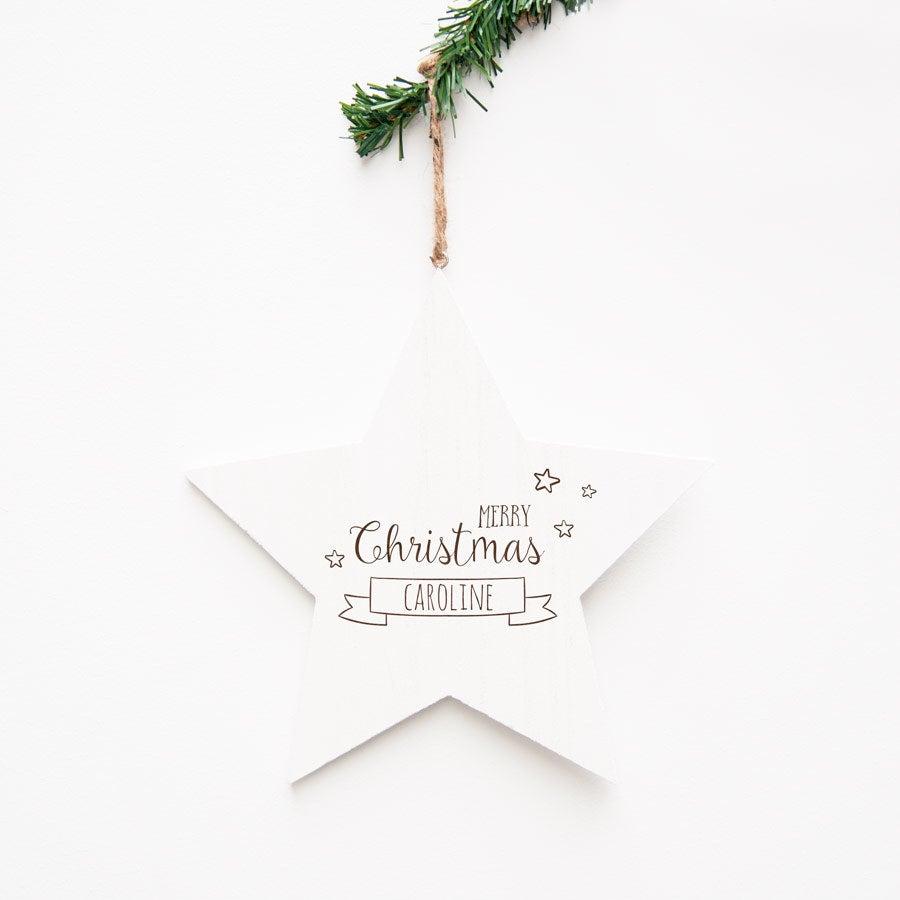 Dřevěná vánoční hvězda