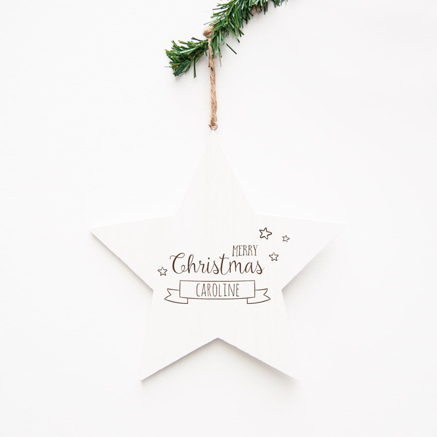 Trä julstjärna