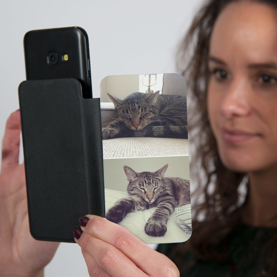 Flip telefon väska med foto - S