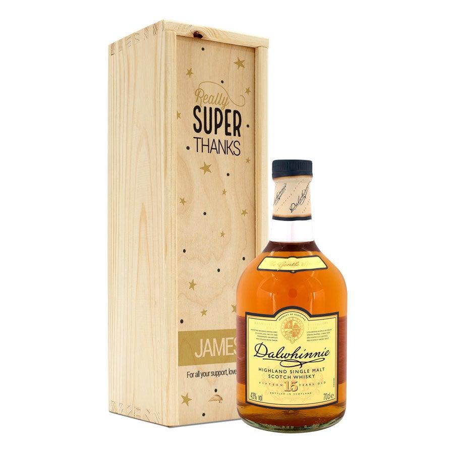 Whisky Dalwhinnie 15 lat - w skrzynce z nadrukiem