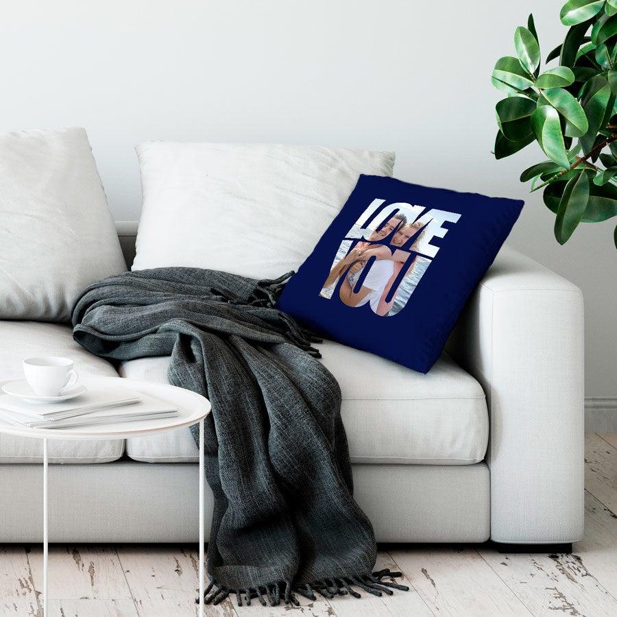 Love Throw-tyyny - Suuri ei täytettävää - laivastonsininen