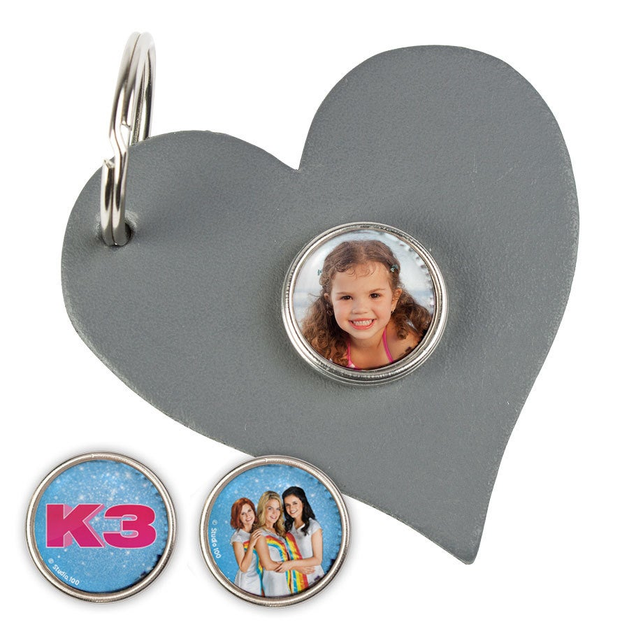 K3 Clicks sleutelhanger - Hartvorm