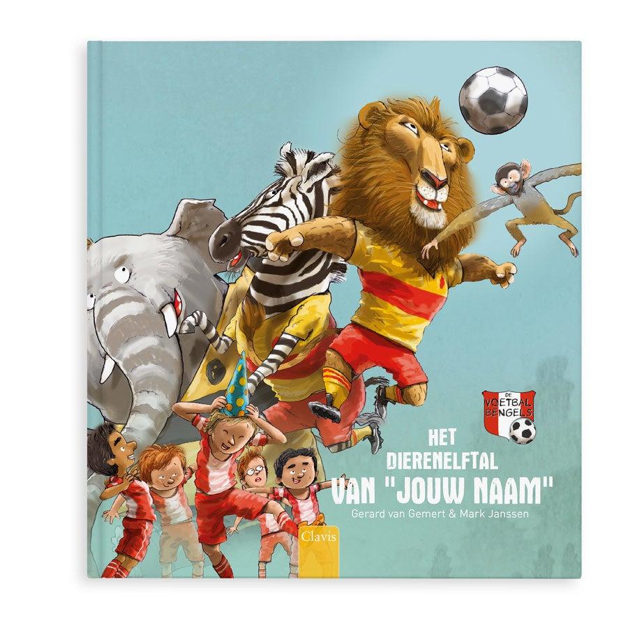 Boek met naam - Jouw eigen dierenelftal - Hardcover