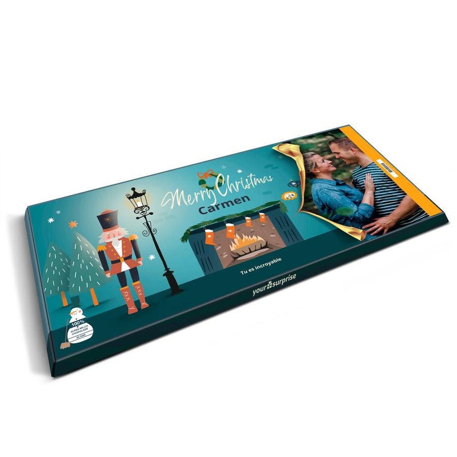 Tableta Milka XXL con nombre y foto - Navidad
