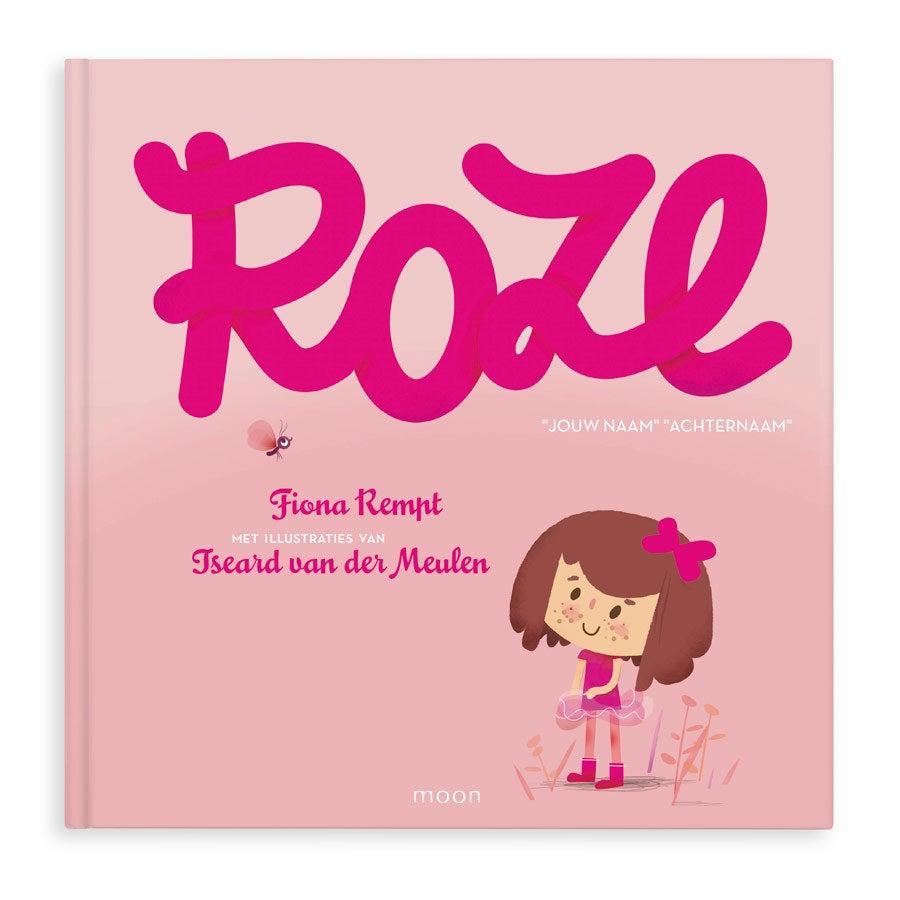 Boek met naam - ROZE - Hardcover