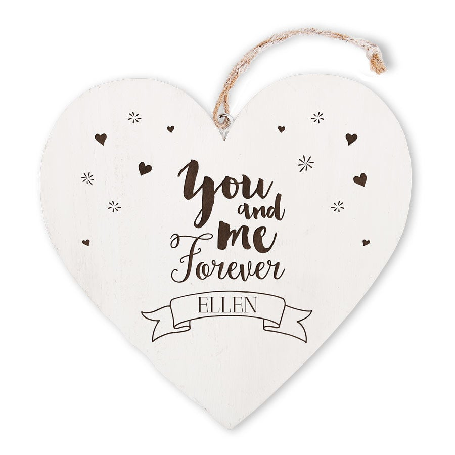 Wooden heart with name