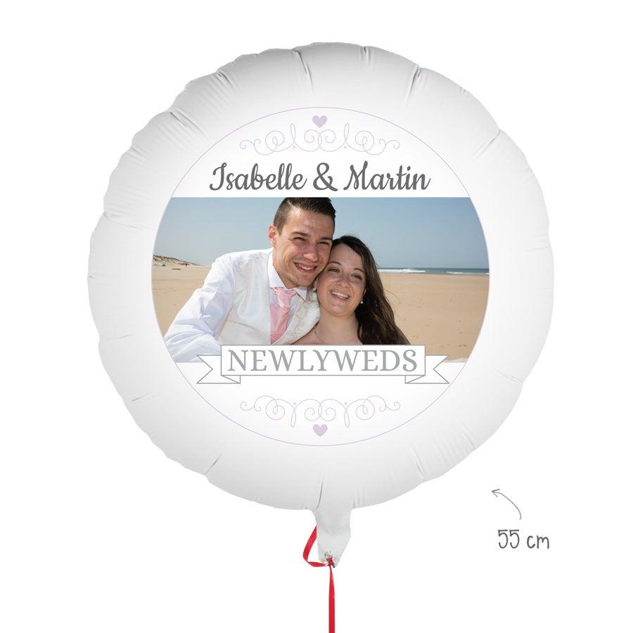 Léggömb fotóval - házasság