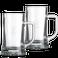 Caneca de cerveja de vidro gravado - conjunto de 2
