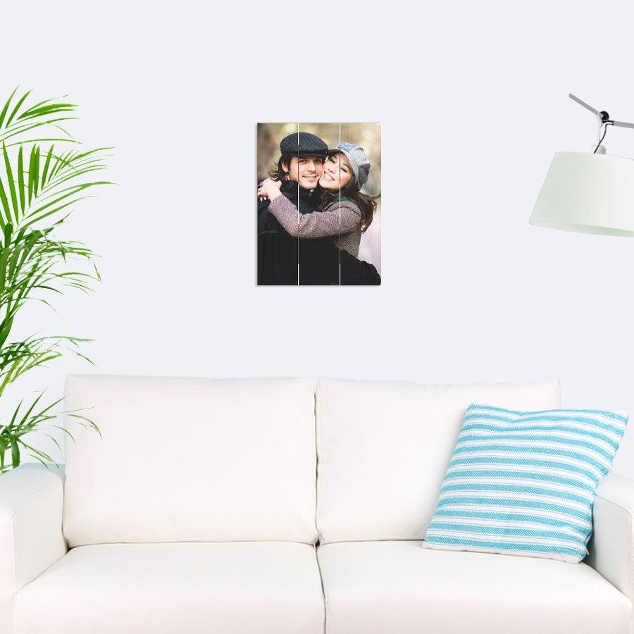 Foto op hout afdrukken - Planken - 30 x 40 cm