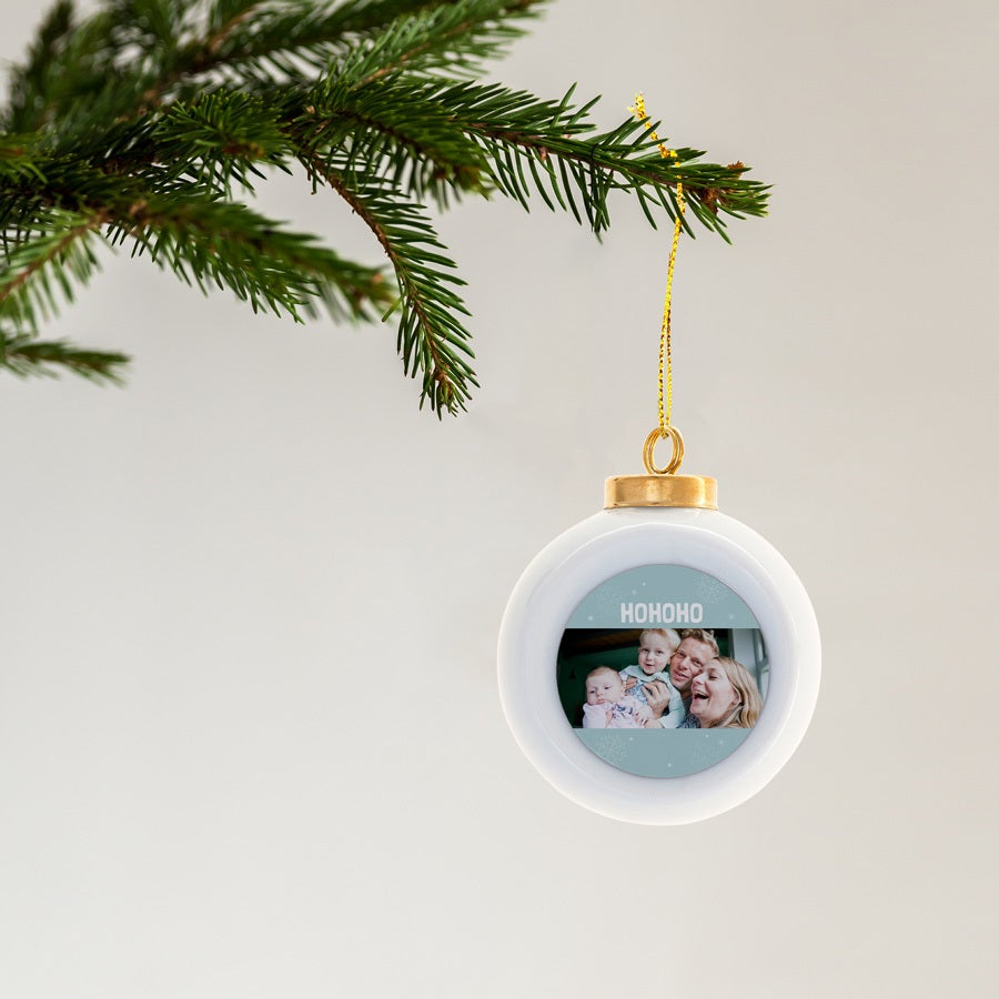 Ceramic Christmas Balls (2 pcs)
