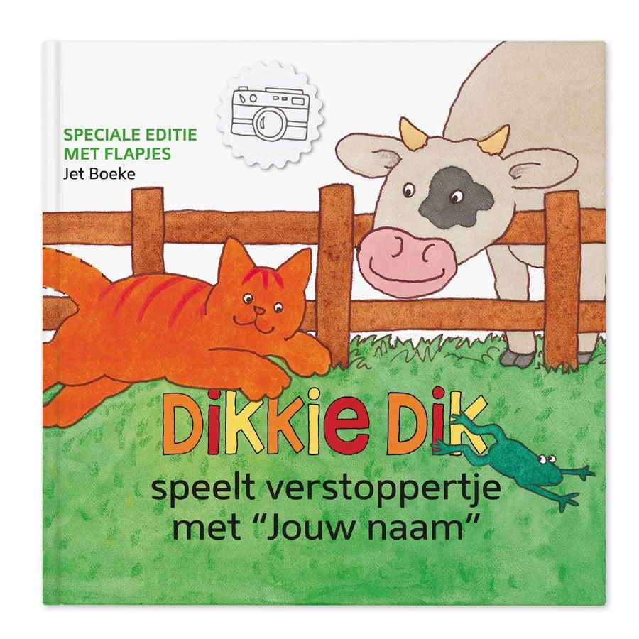 Dikkie Dik XXL flapjesboek met naam en foto - Verstoppertje