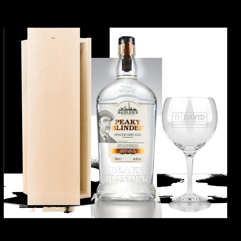 Peaky Blinders ginpakket met glas