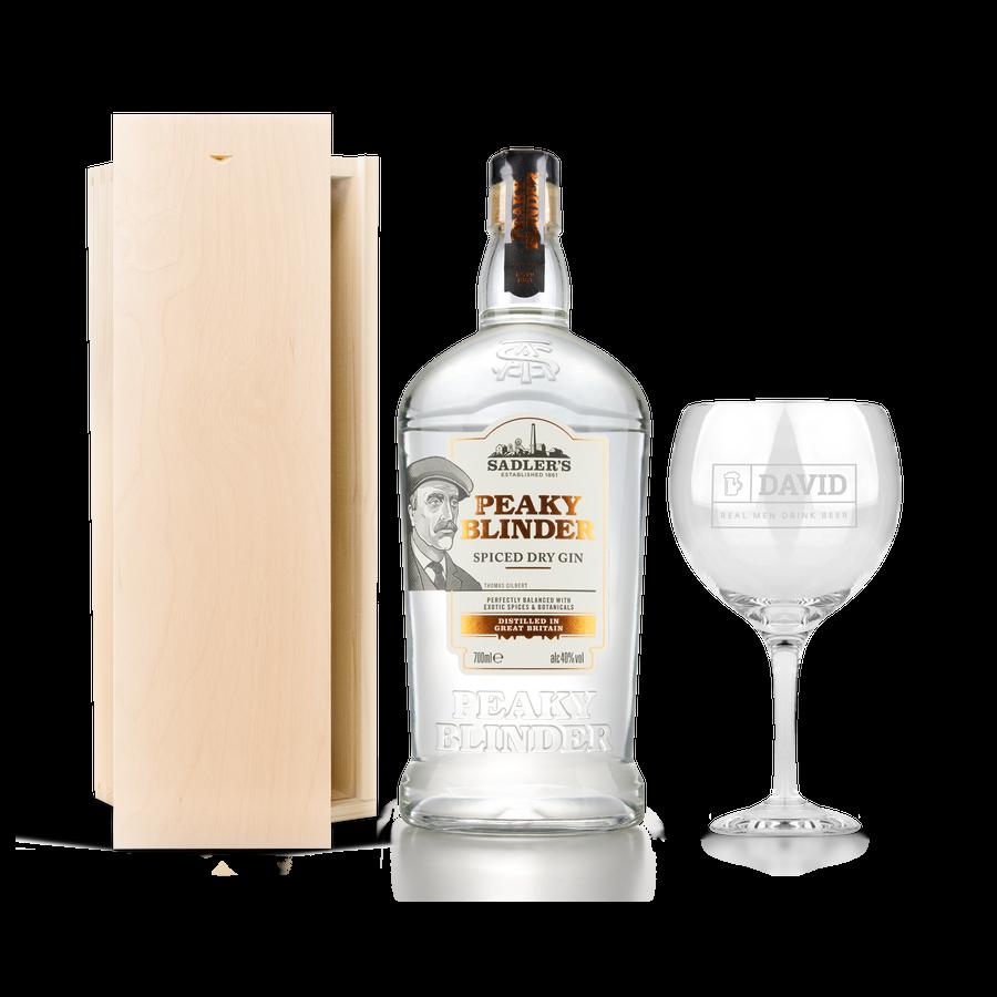 Conjunto de gin Peaky Blinders - com vidro gravado
