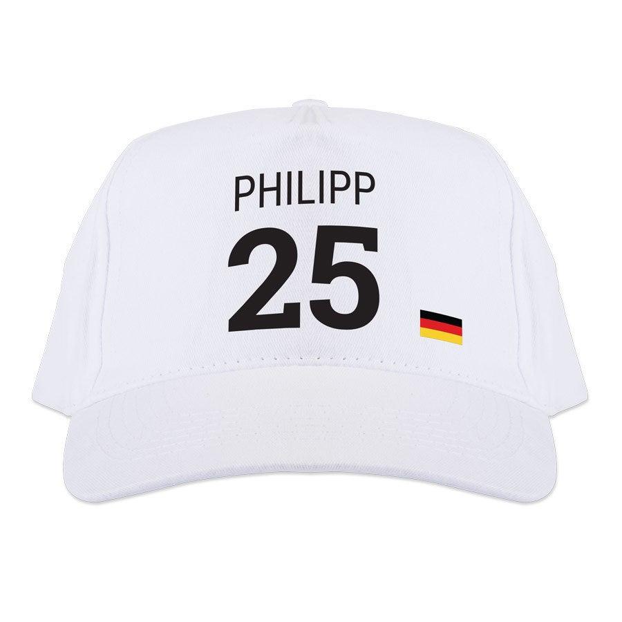 WM-Basecap bedrucken – Weiß