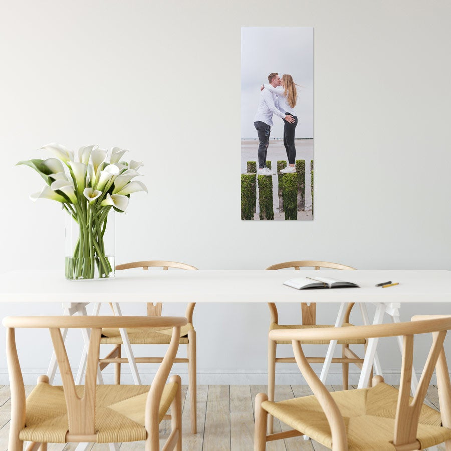 Foto op aluminium afdrukken - Wit (ChromaLuxe) - 30 x 80 cm