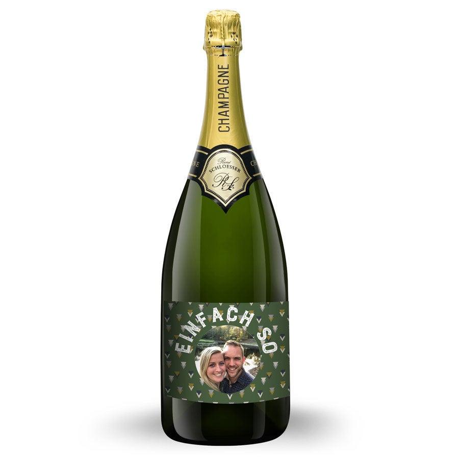 Champagner mit bedrucktem Etikett - Rene Schloesser Magnum (1500ml)