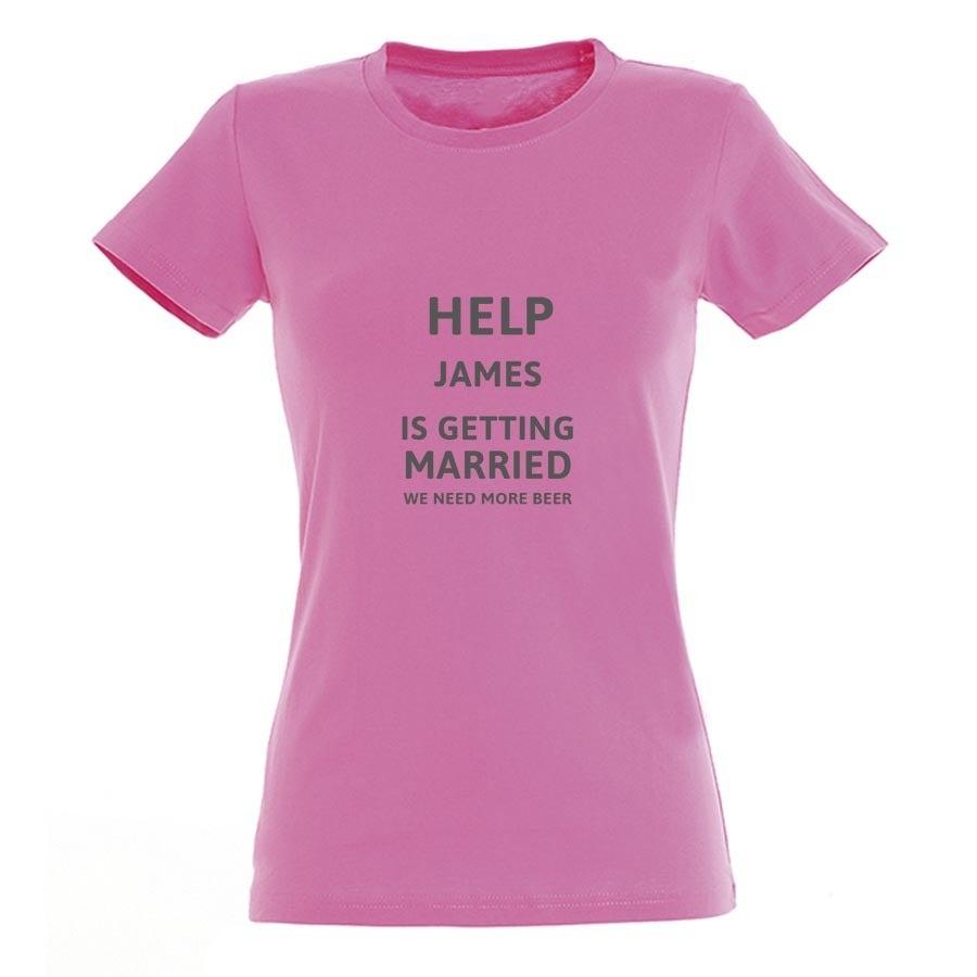 T-shirt voor vrouwen bedrukken - Roze - XXL