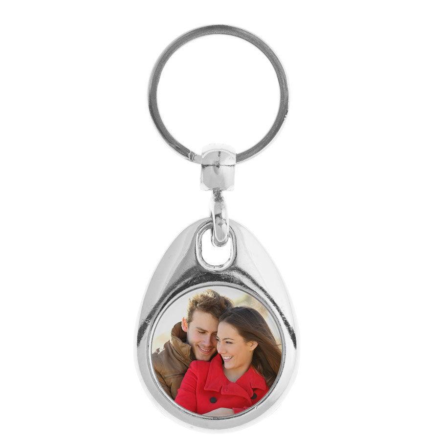 Schlüsselanhänger mit Foto- Rund