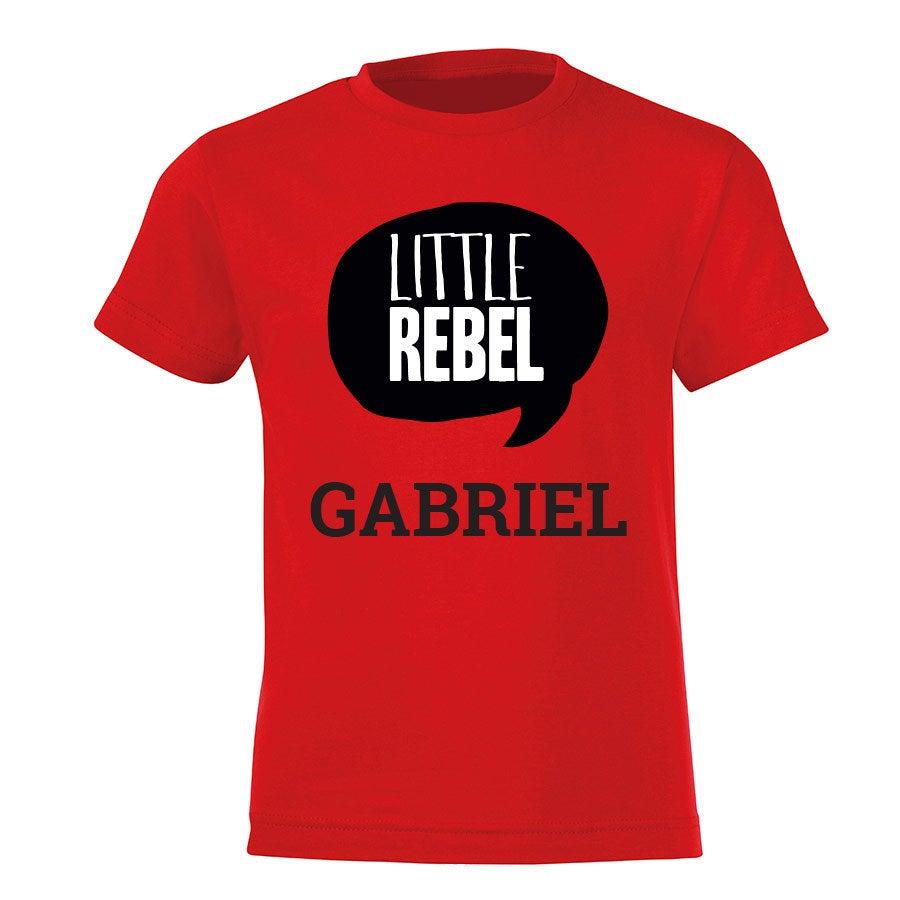 T-paita omalla painatuksella - Lapset - Punainen - 122