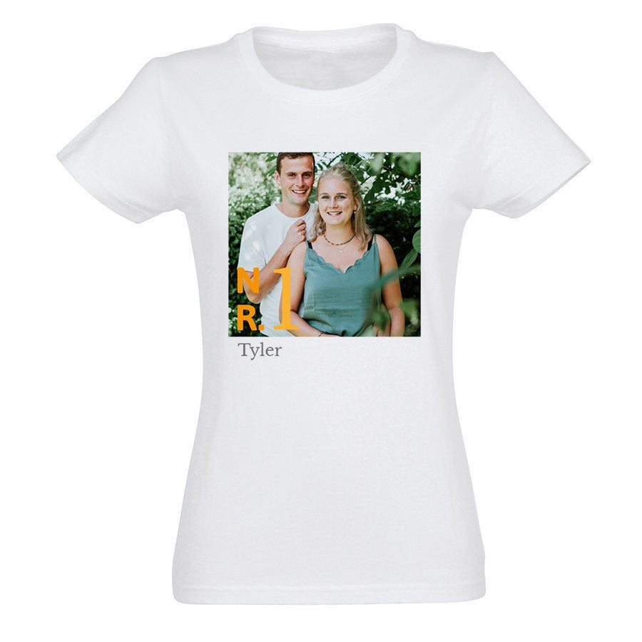 T-shirt voor vrouwen bedrukken - Wit - L
