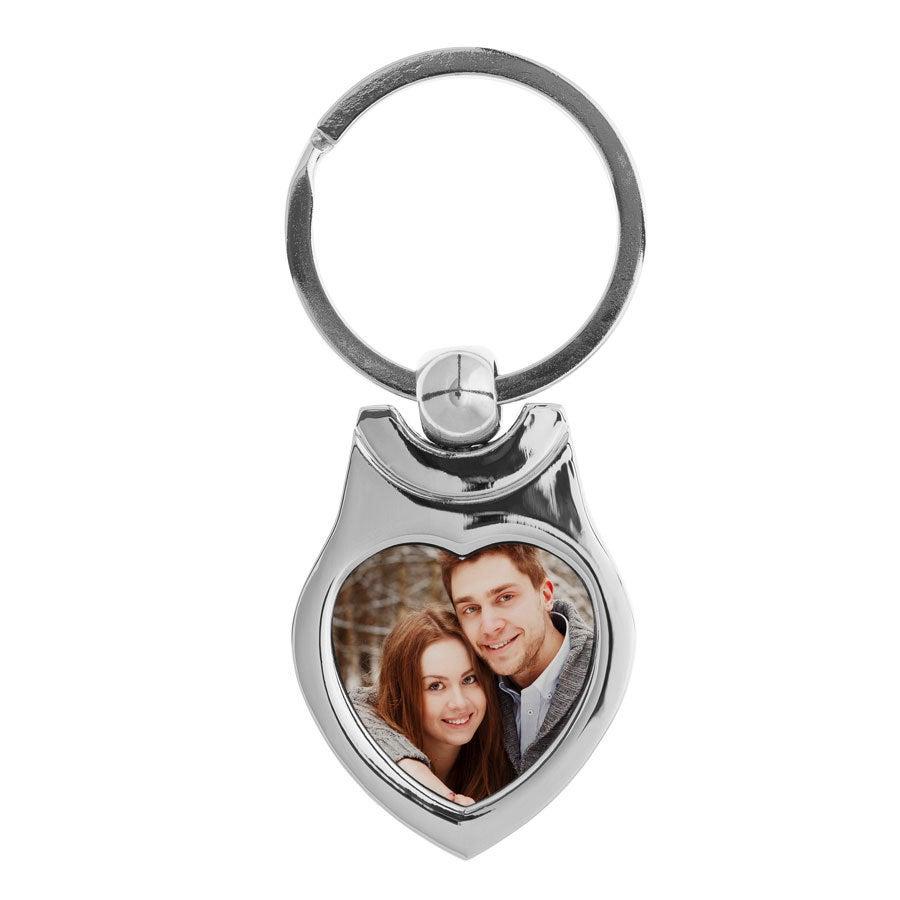 Schlüsselanhänger mit Foto- Herz