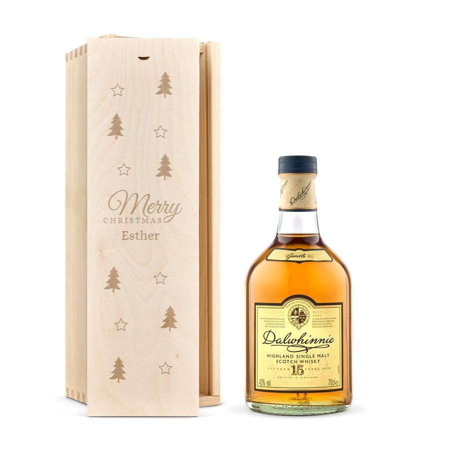 Whisky i indgraveret æske – Dalwhinnie 15-års